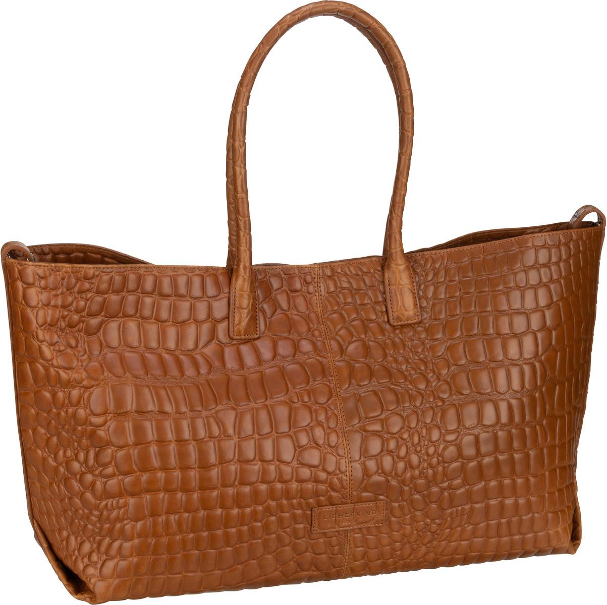 Berlin Handtasche Malibu 2 Chelsea Shopper L Croco Golden Amber