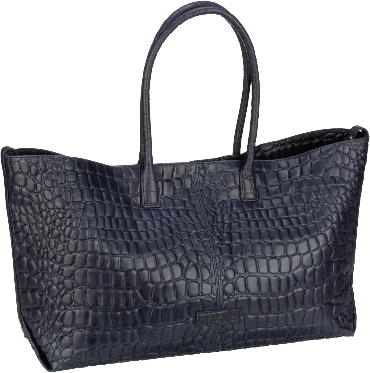 Berlin Handtasche Malibu 2 Chelsea Shopper L Croco Midnight Sky