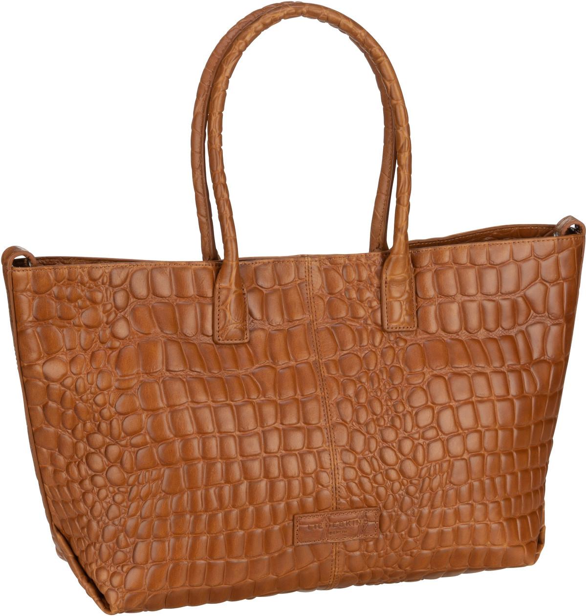 Berlin Handtasche Malibu 2 Chelsea Shopper M Croco Golden Amber