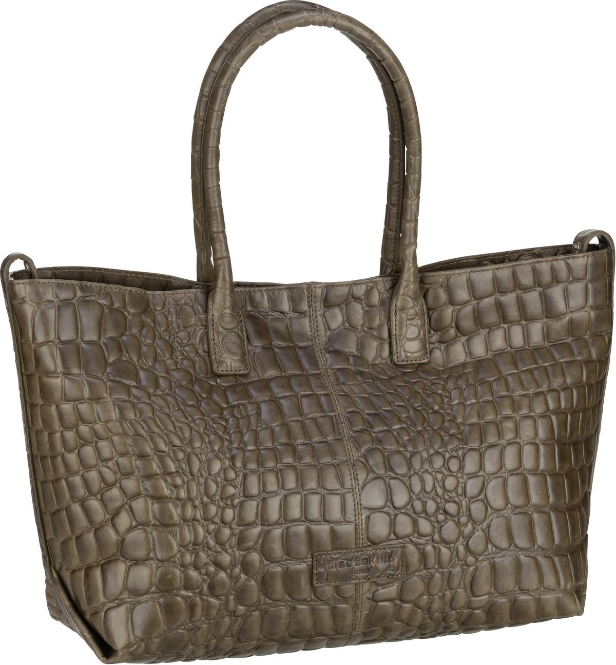 Berlin Handtasche Malibu 2 Chelsea Shopper M Croco Umber Green