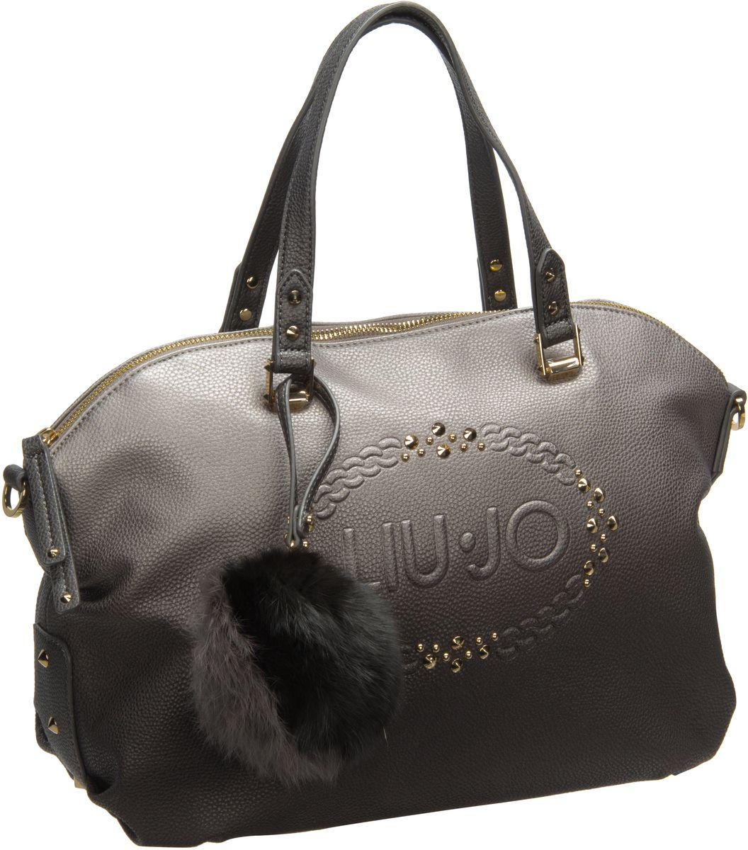 lucciola bauletto logo gun metal frozen handtasche von liu jo online kaufen handtaschenhaus. Black Bedroom Furniture Sets. Home Design Ideas