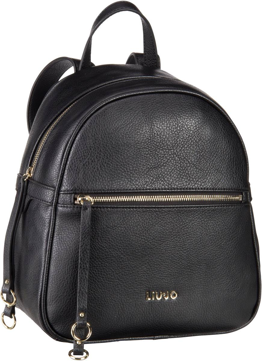 liu jo eze zaino nero rucksack daypack rucks cke taschen f r frau. Black Bedroom Furniture Sets. Home Design Ideas