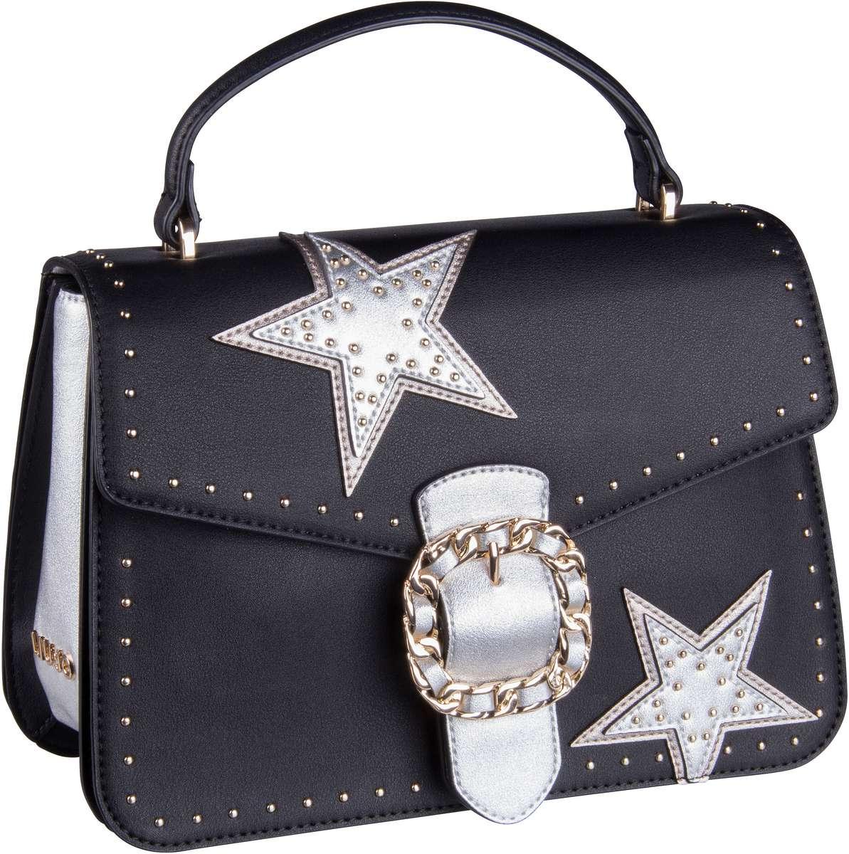 Handtasche Tiberina Stars Top Handle M Nero
