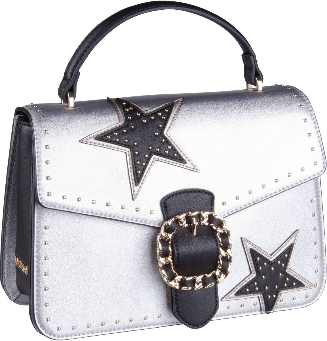 Handtasche Tiberina Stars Top Handle M Silver