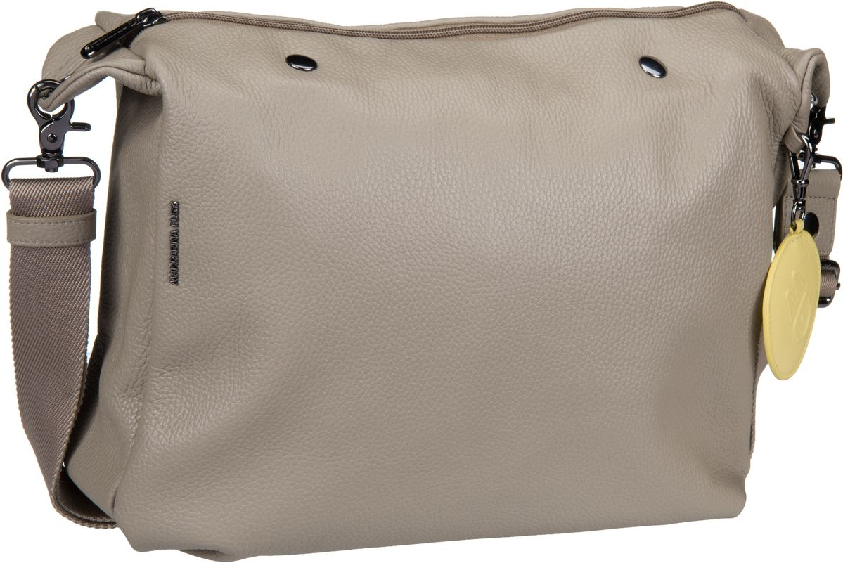 Umhängetasche Mellow Leather Handbag Simply Taupe (innen: Grau)