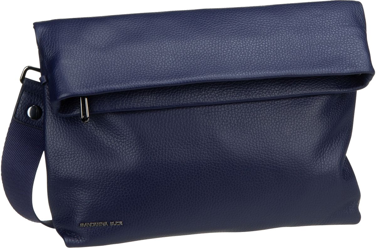 Umhängetasche Mellow Leather Schultertasche Dress Blue (innen: Grau)
