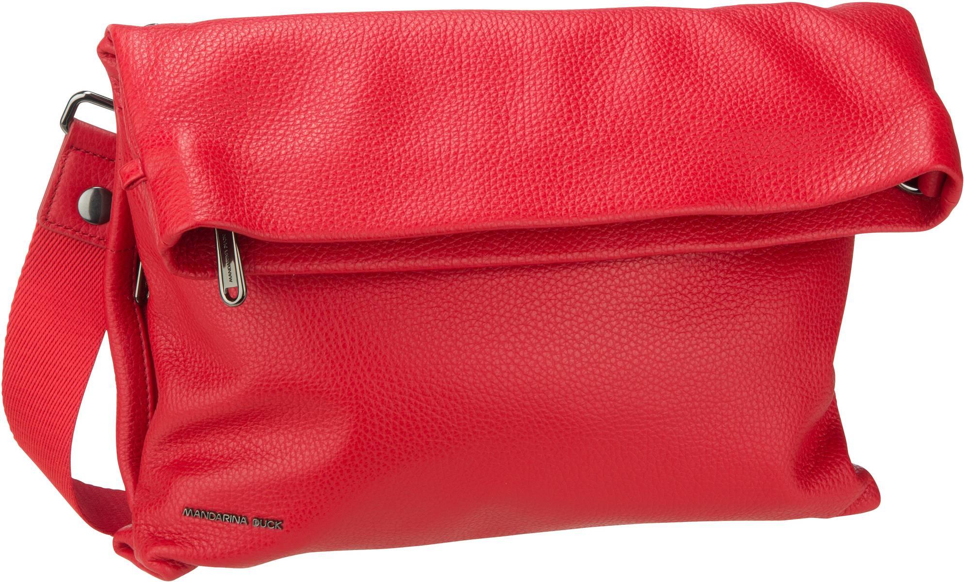 Umhängetasche Mellow Leather Schultertasche Flame Scarlet (innen: Grau)