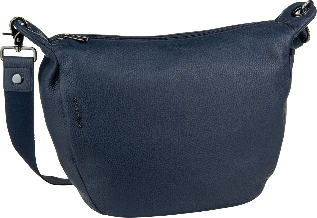 Umhängetasche Mellow Leather Crossbody Dress Blue (innen: Grau)
