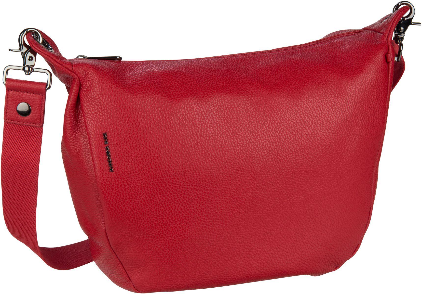 Umhängetasche Mellow Leather Crossbody Flame Scarlet (innen: Grau)