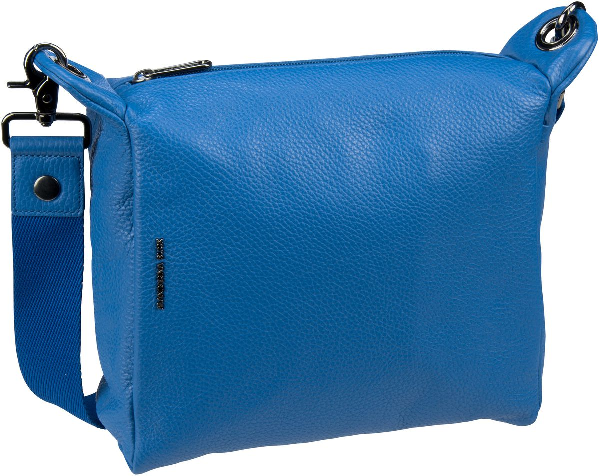 Umhängetasche Mellow Leather Crossover Small Colony Blue (innen: Grau)
