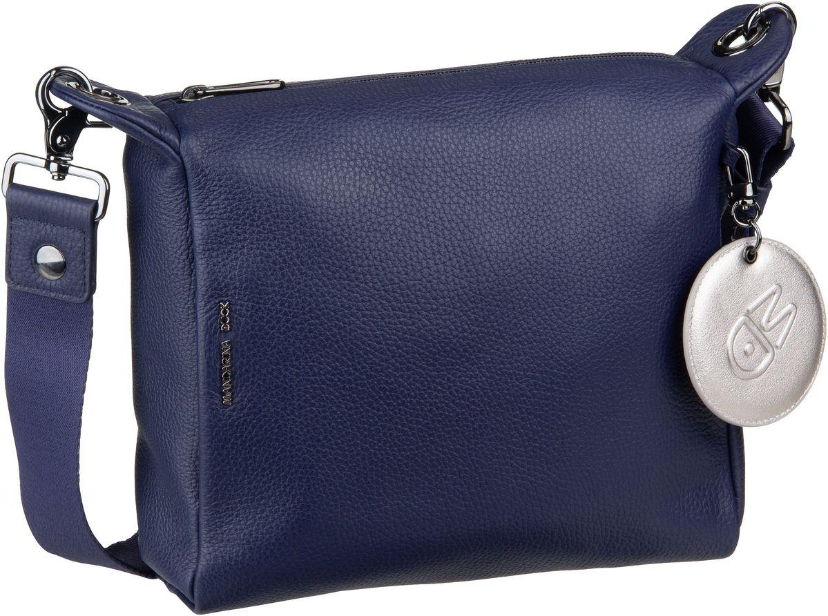 Umhängetasche Mellow Leather Crossover Small Dress Blue (innen: Grau)