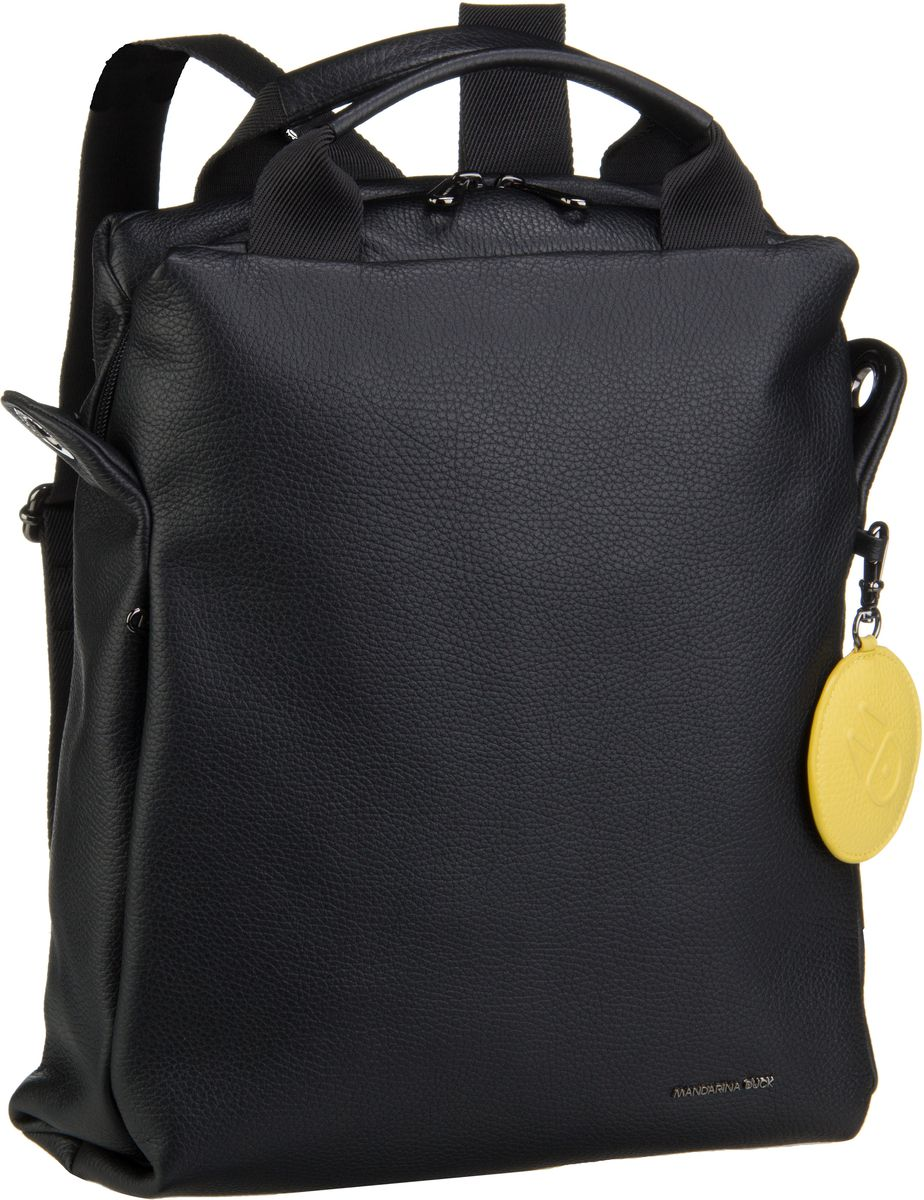 Rucksack / Daypack Mellow Leather Medium Backpack T91 Nero