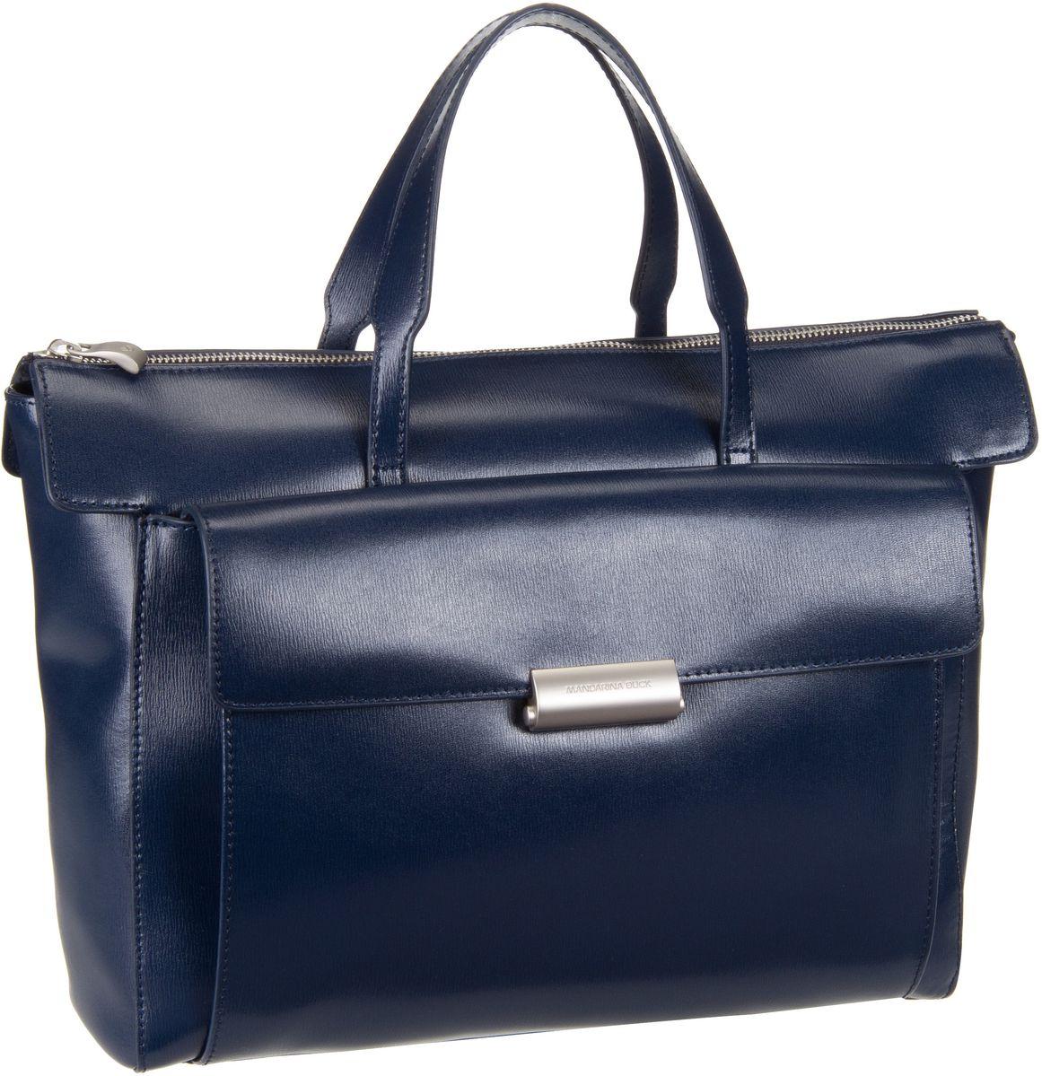 Businesstaschen für Frauen - Mandarina Duck Aktentasche Hera 3.0 Handbag RAT01 Dress Blue  - Onlineshop Taschenkaufhaus