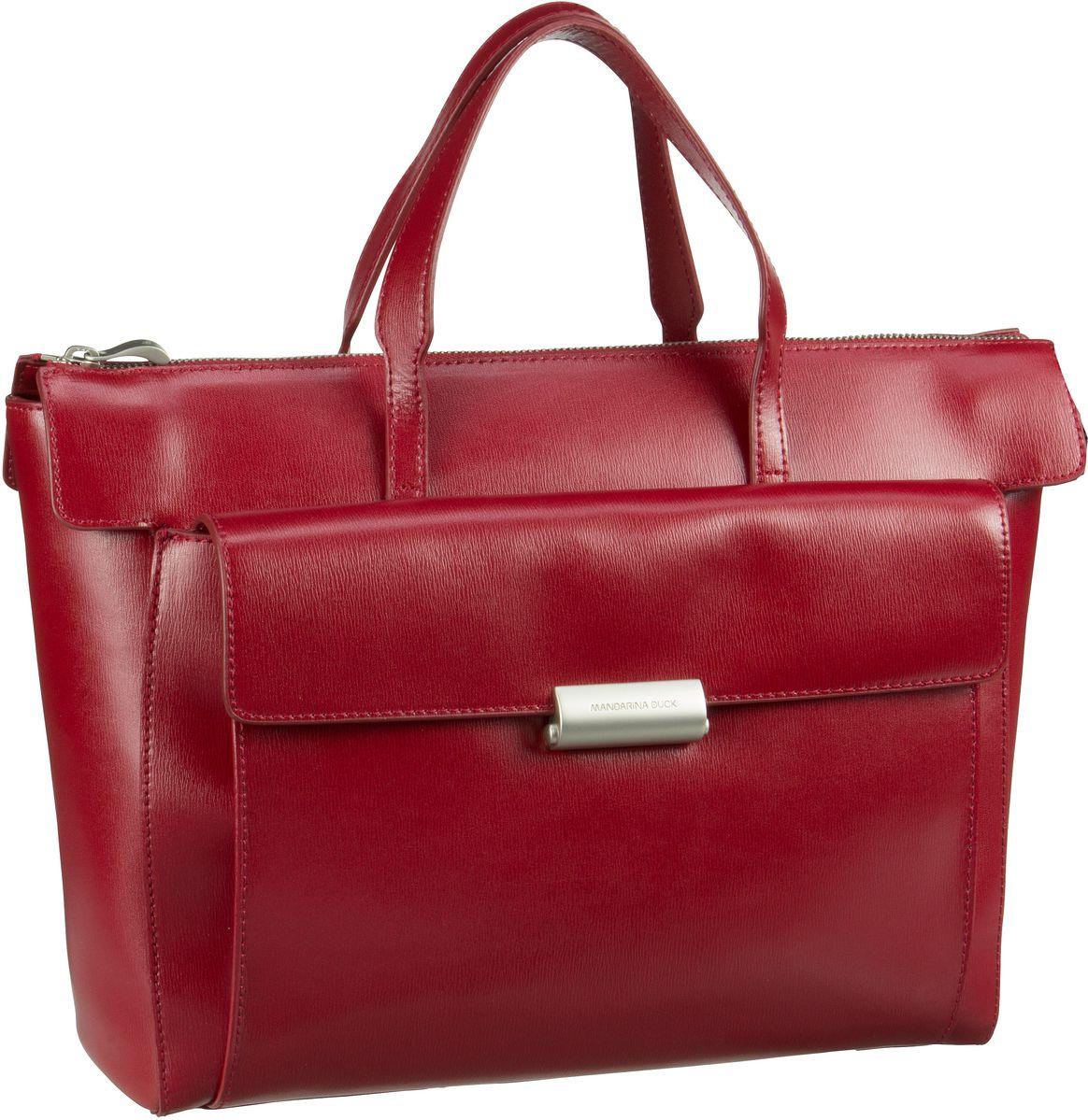 Businesstaschen für Frauen - Mandarina Duck Aktentasche Hera 3.0 Handbag RAT01 Red  - Onlineshop Taschenkaufhaus