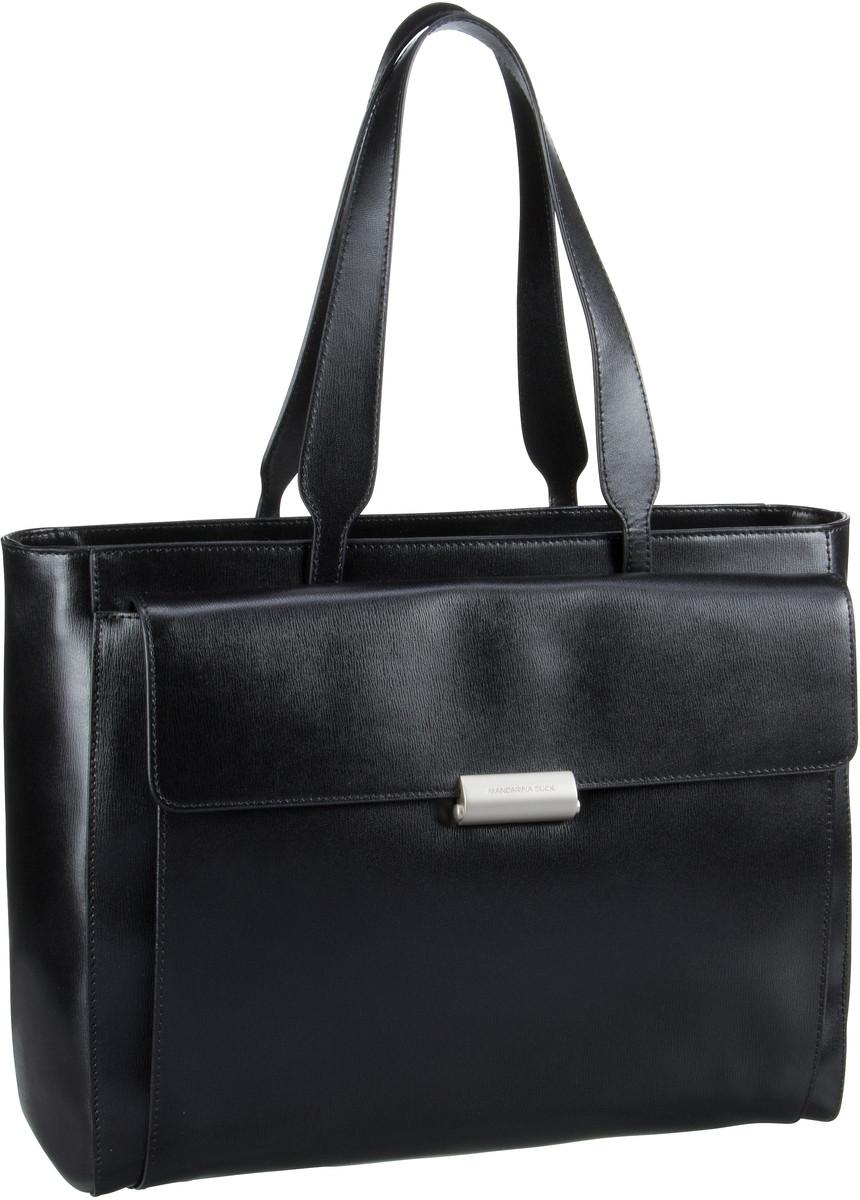 Businesstaschen für Frauen - Mandarina Duck Aktentasche Hera 3.0 Shopper RAT02 Black  - Onlineshop Taschenkaufhaus