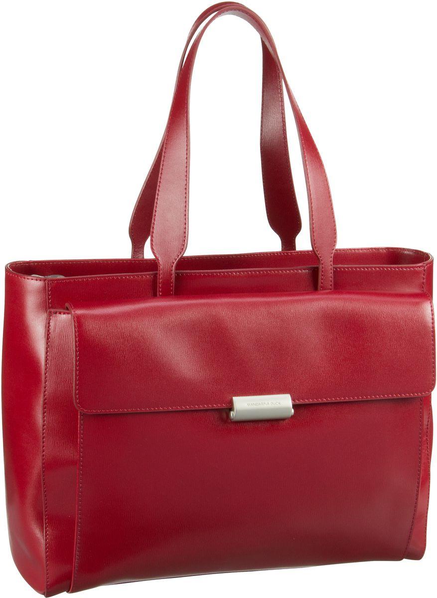 Businesstaschen für Frauen - Mandarina Duck Aktentasche Hera 3.0 Shopper RAT02 Red  - Onlineshop Taschenkaufhaus