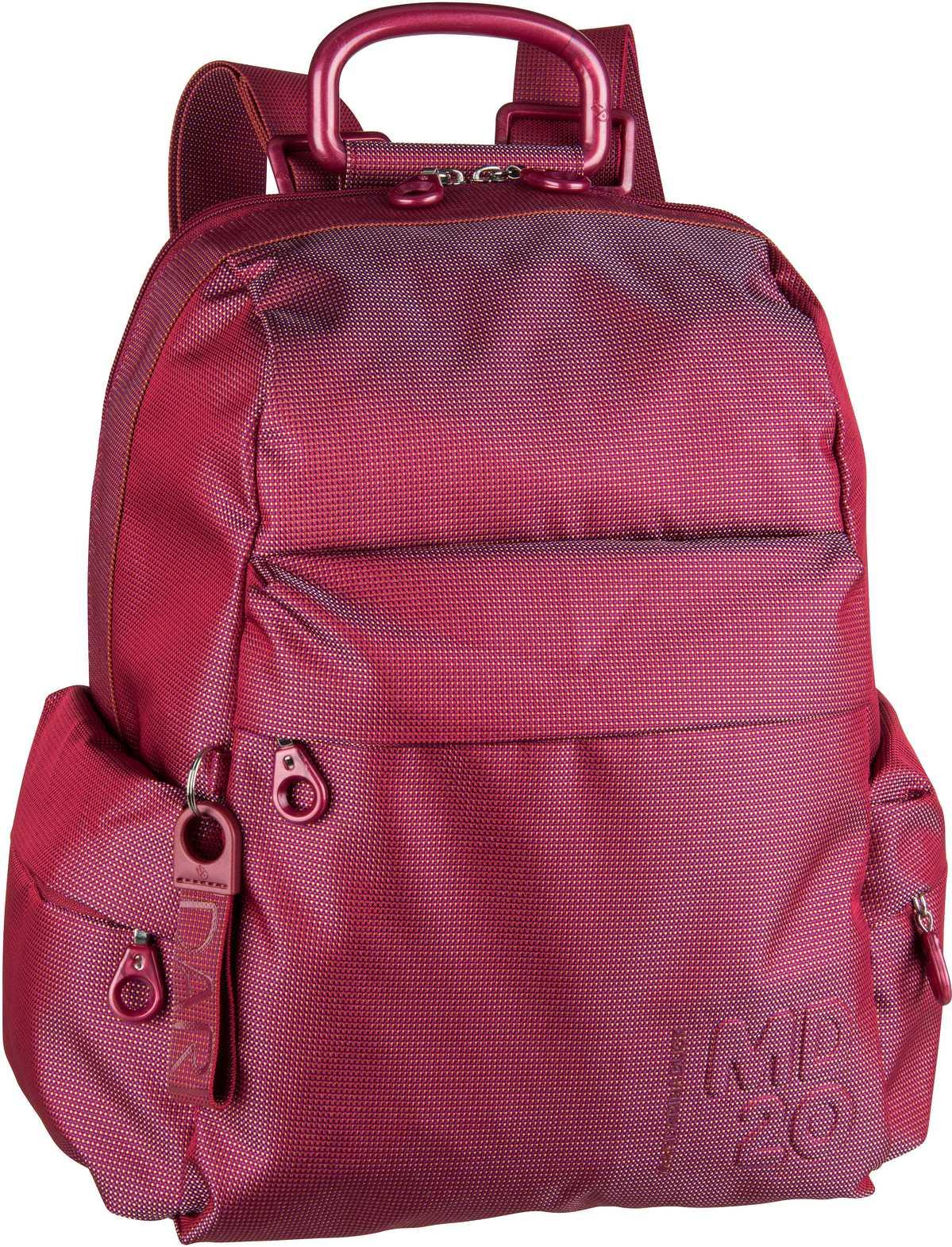 Rucksaecke für Frauen - Mandarina Duck Rucksack Daypack MD20 Medium Backpack QMTT2 Bouganville  - Onlineshop Taschenkaufhaus