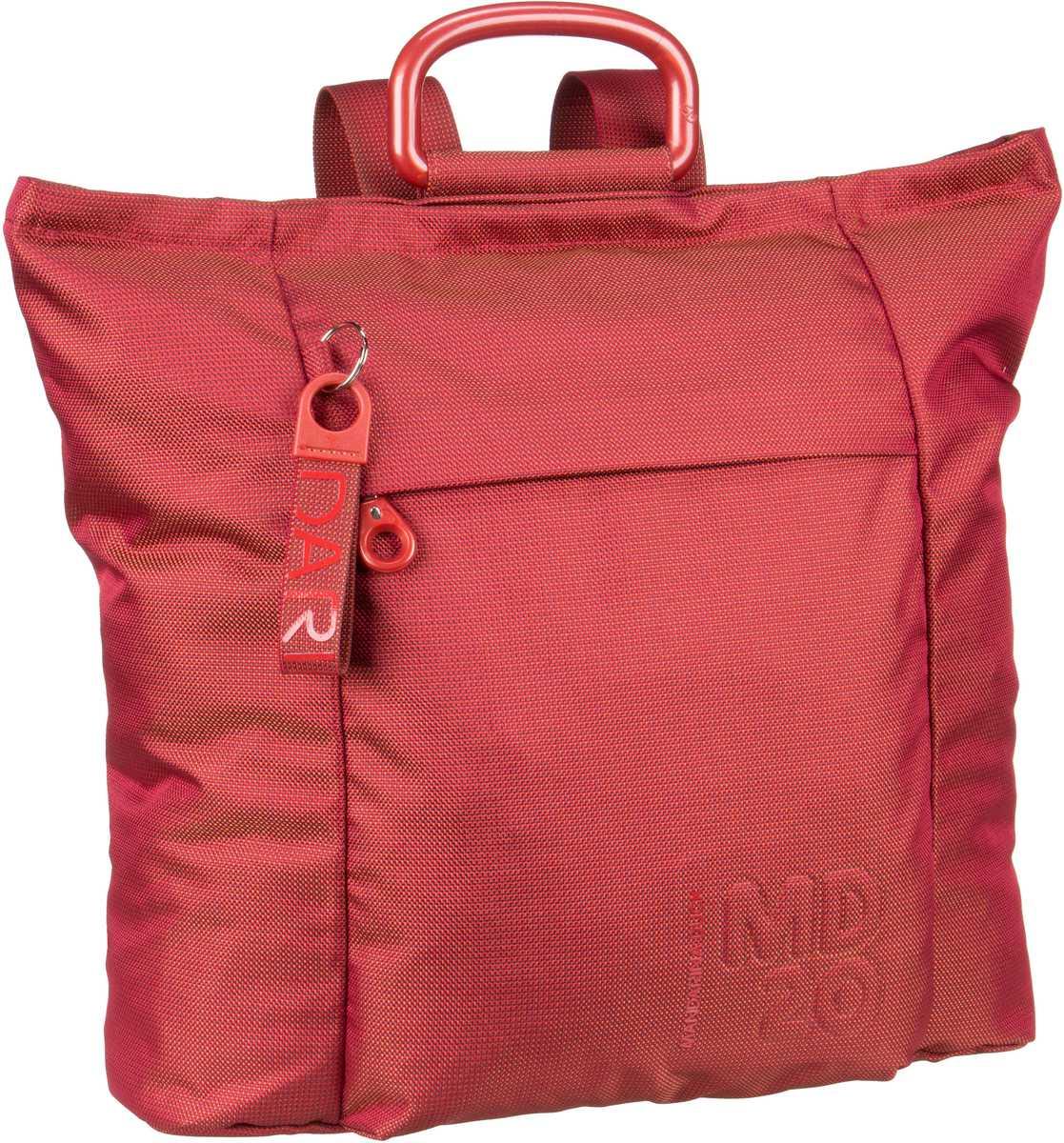 Rucksaecke für Frauen - Mandarina Duck Rucksack Daypack MD20 Backpack QMT02 Tomato  - Onlineshop Taschenkaufhaus