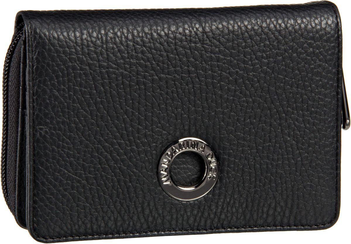 Mandarina Duck Mellow Leather Wallet FZP54 Nero - Geldbörse