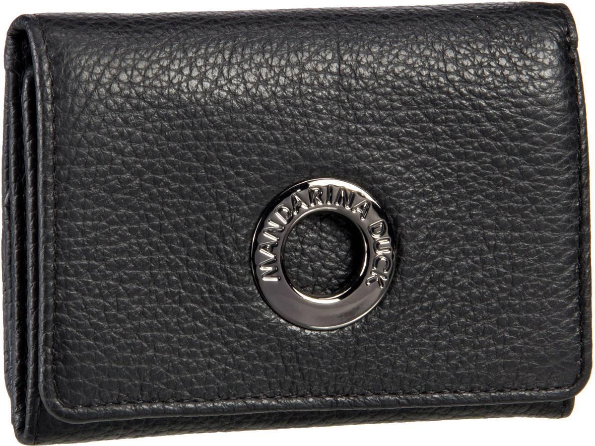 Geldboersen für Frauen - Mandarina Duck Geldbörse Mellow Leather Wallet FZP56 Nero  - Onlineshop Taschenkaufhaus
