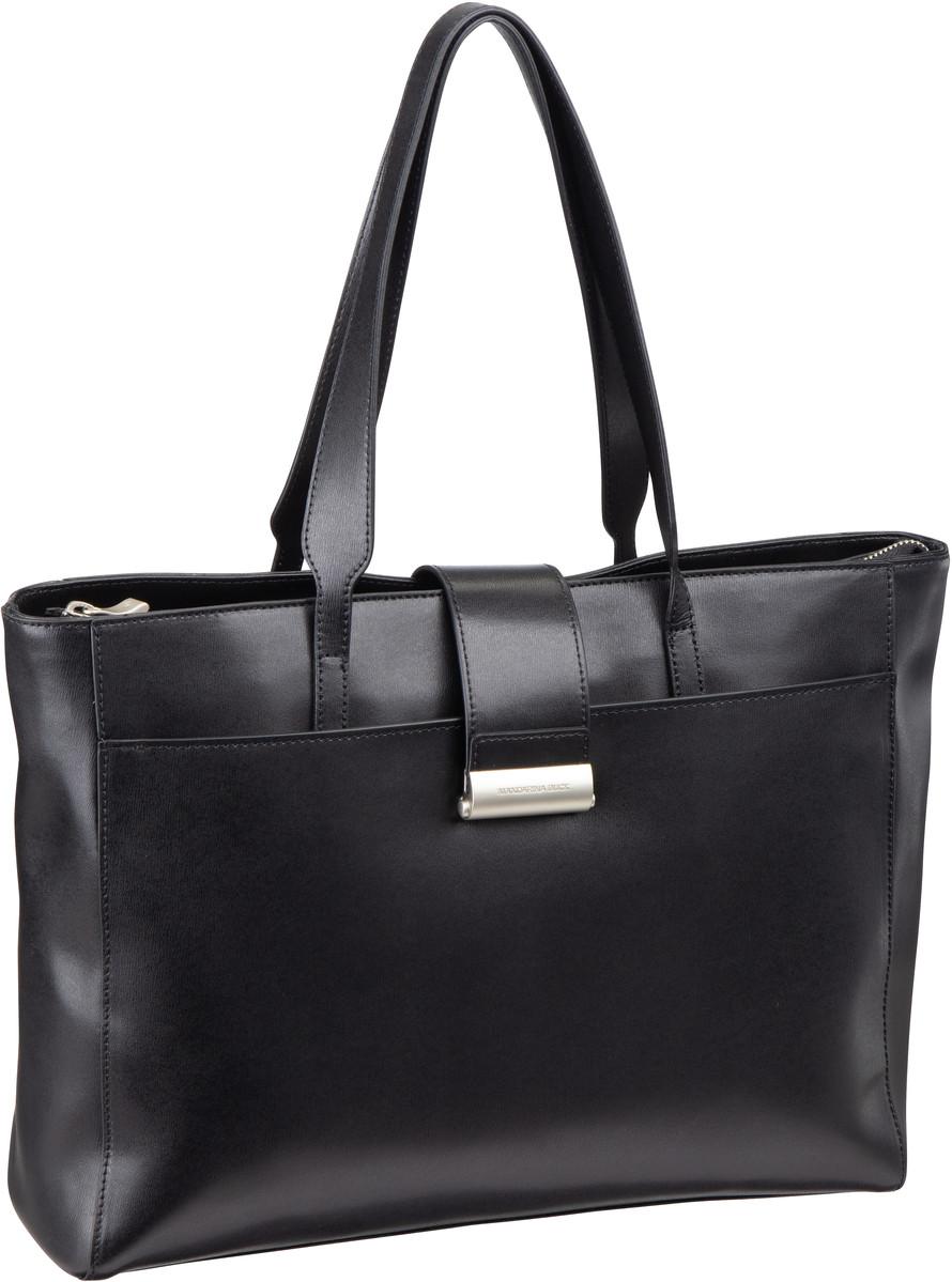 Businesstaschen für Frauen - Mandarina Duck Aktentasche Hera 3.0 Hand Bag RAT10 Nero  - Onlineshop Taschenkaufhaus