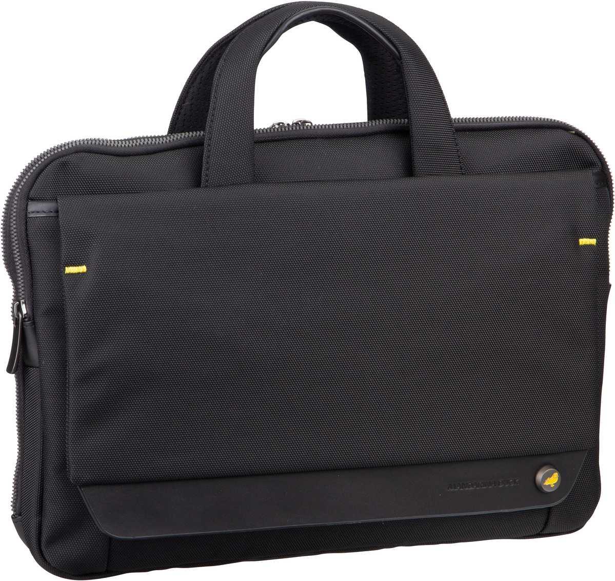 Businesstaschen für Frauen - Mandarina Duck Aktentasche Mr. Duck Briefcase Slim STC03 Black  - Onlineshop Taschenkaufhaus