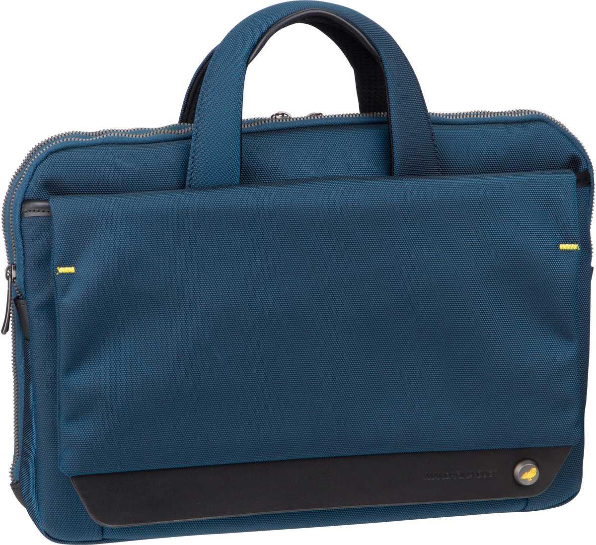 Businesstaschen für Frauen - Mandarina Duck Aktentasche Mr. Duck Briefcase Slim STC03 Navy  - Onlineshop Taschenkaufhaus