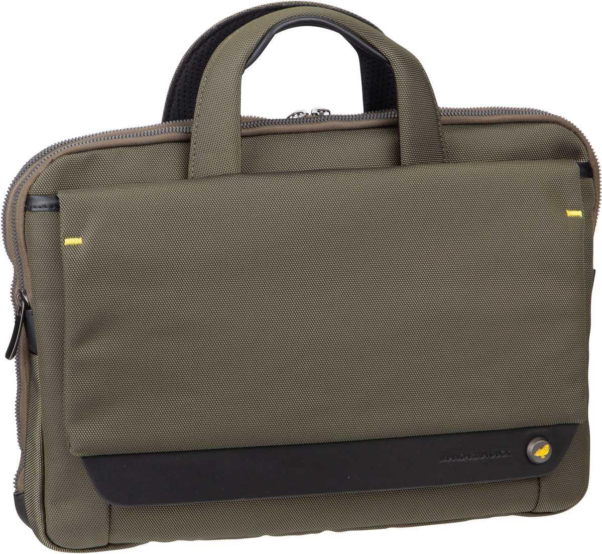 Businesstaschen für Frauen - Mandarina Duck Aktentasche Mr. Duck Briefcase Slim STC03 Soldier  - Onlineshop Taschenkaufhaus