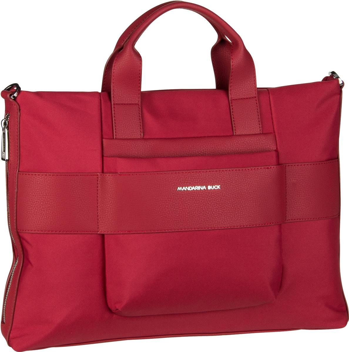 Businesstaschen für Frauen - Mandarina Duck Aktenmappe Boston Slim Briefcase UTT01 Ruby  - Onlineshop Taschenkaufhaus