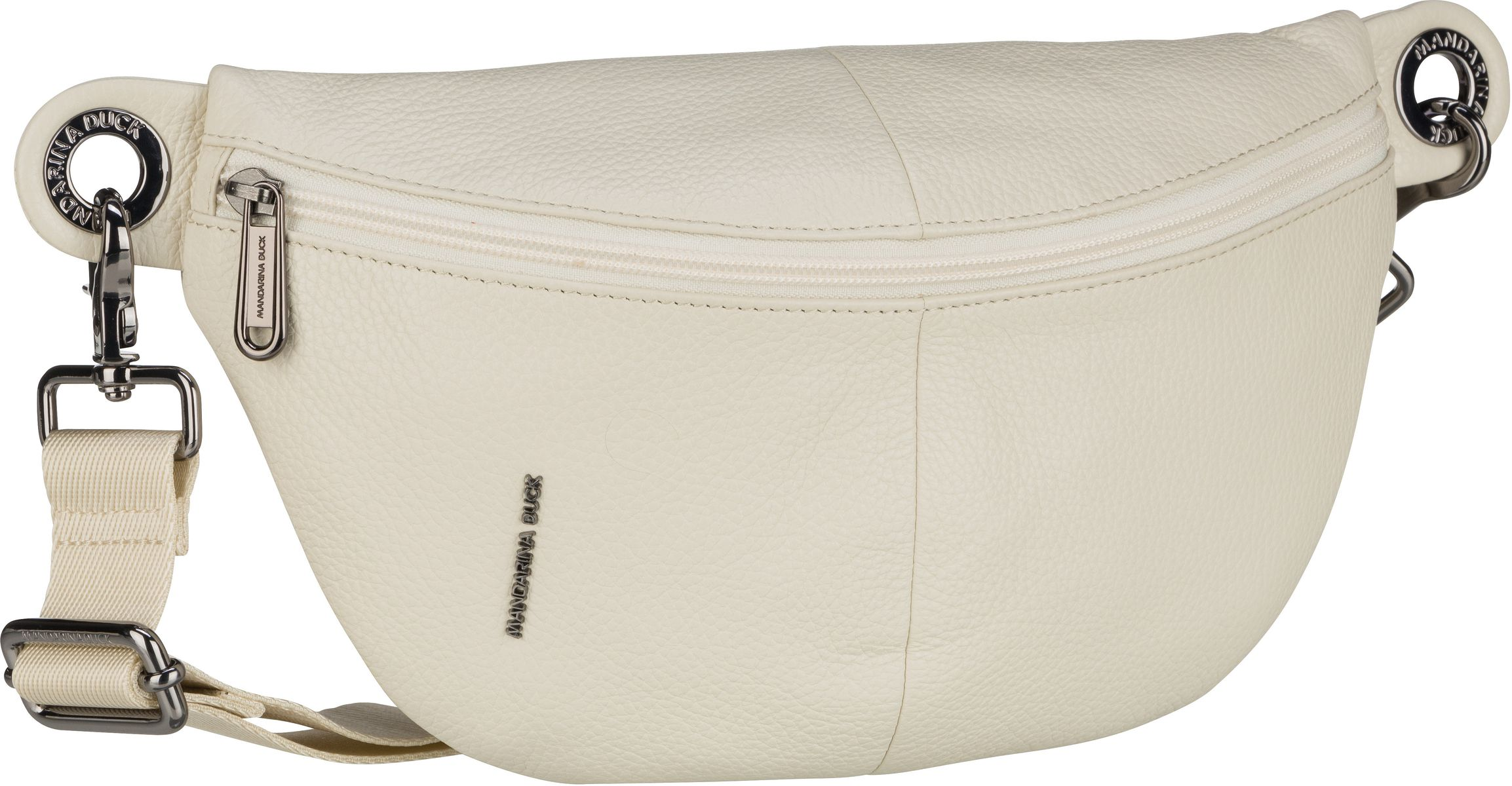mandarina duck -  Gürteltasche Mellow Leather Bum Bag FZT73 Off White