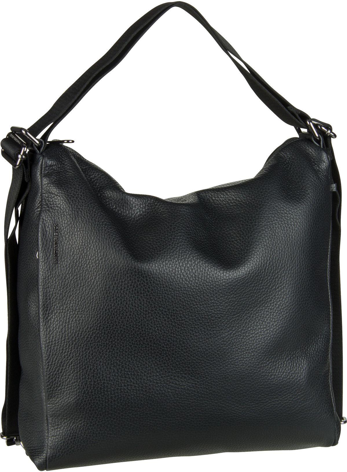 Handtasche Mellow Leather Hobo Backpack FZT72 Nero