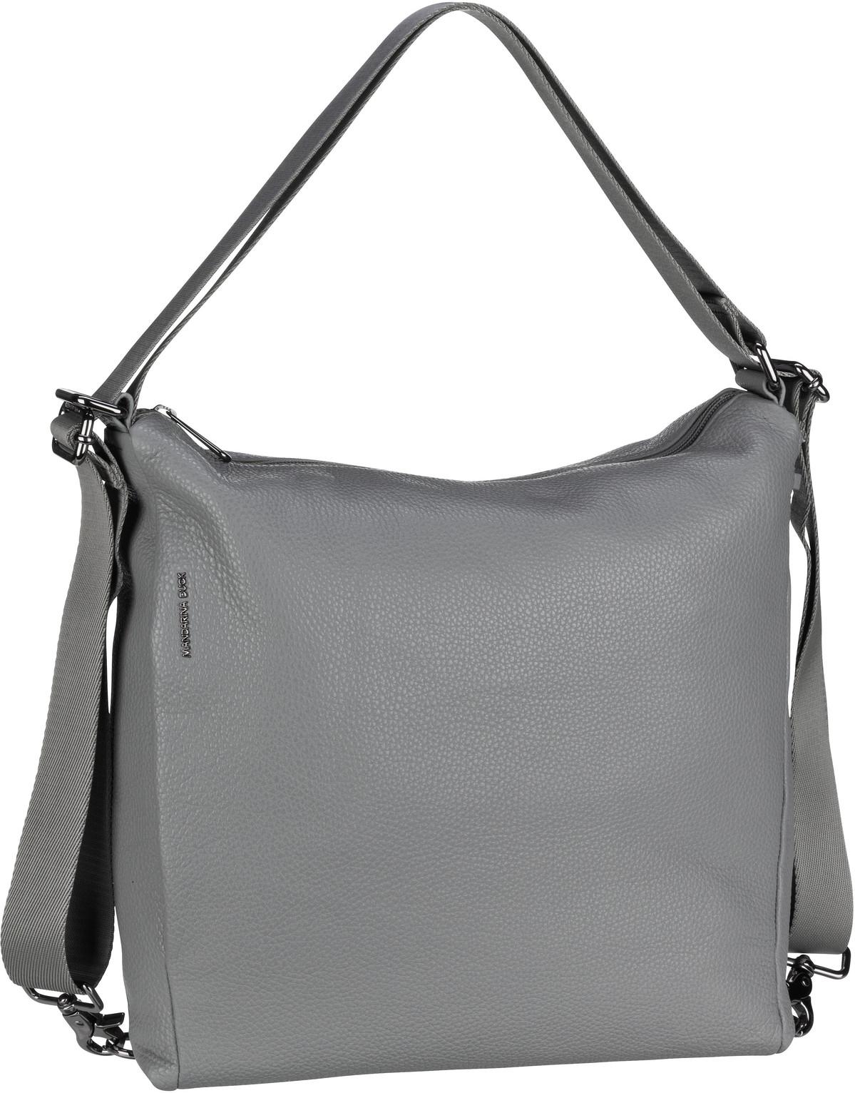 Handtasche Mellow Leather Hobo Backpack FZT72 Aluminium