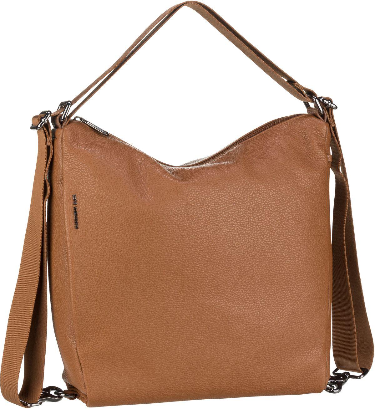 mandarina duck -  Handtasche Mellow Leather Hobo Backpack FZT72 Indian Tan