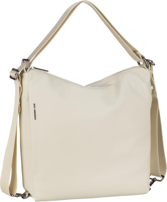 mandarina duck -  Handtasche Mellow Leather Hobo Backpack FZT72 Off White