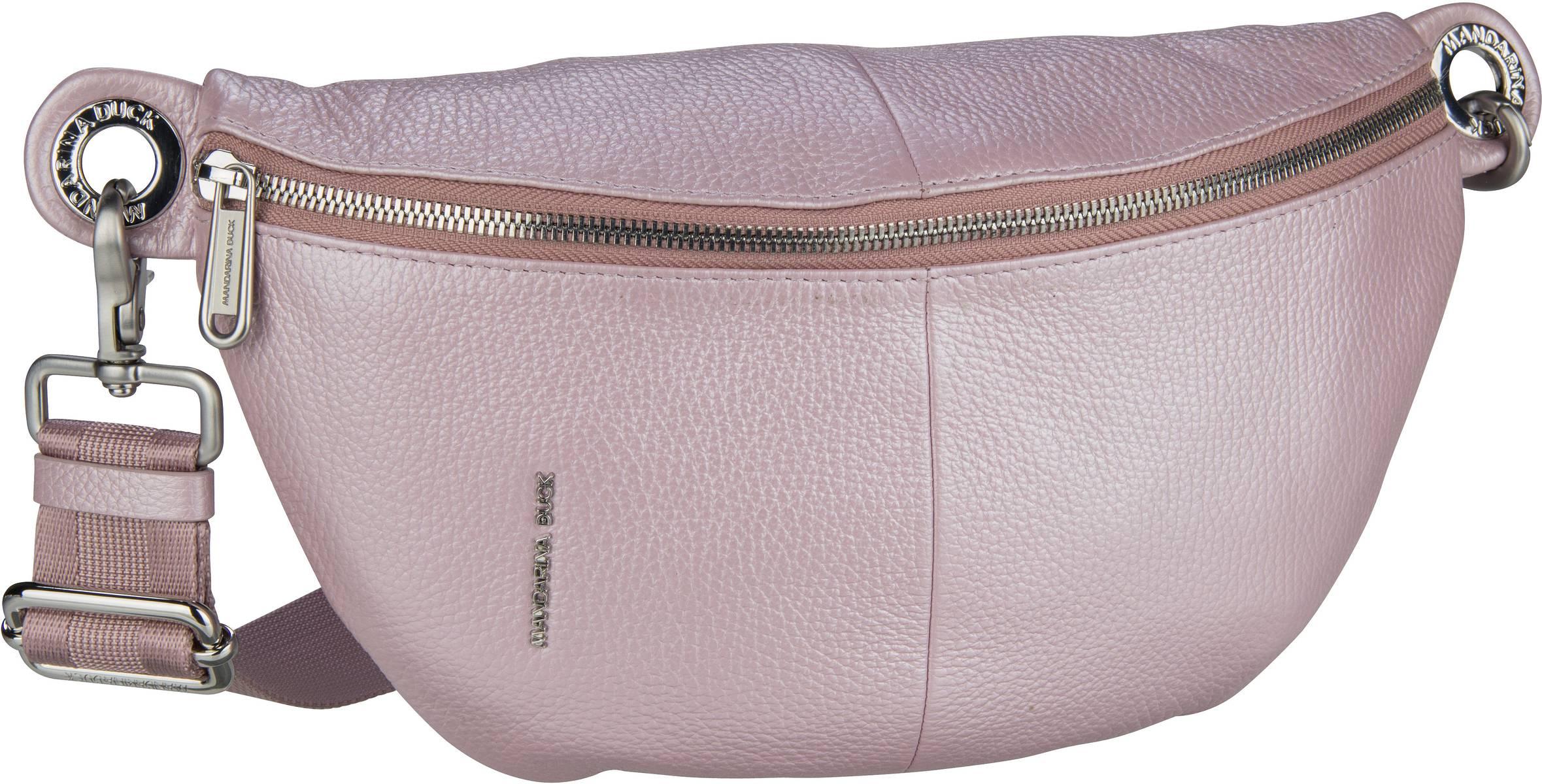 Kleinwaren - Mandarina Duck Gürteltasche Mellow Leather Lux Bum Bag ZLT73 Glicine  - Onlineshop Taschenkaufhaus