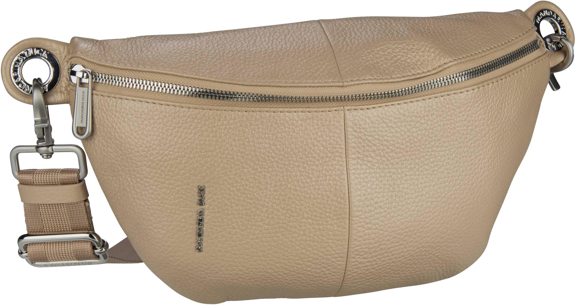 Kleinwaren - Mandarina Duck Gürteltasche Mellow Leather Lux Bum Bag ZLT73 Irish Cream  - Onlineshop Taschenkaufhaus