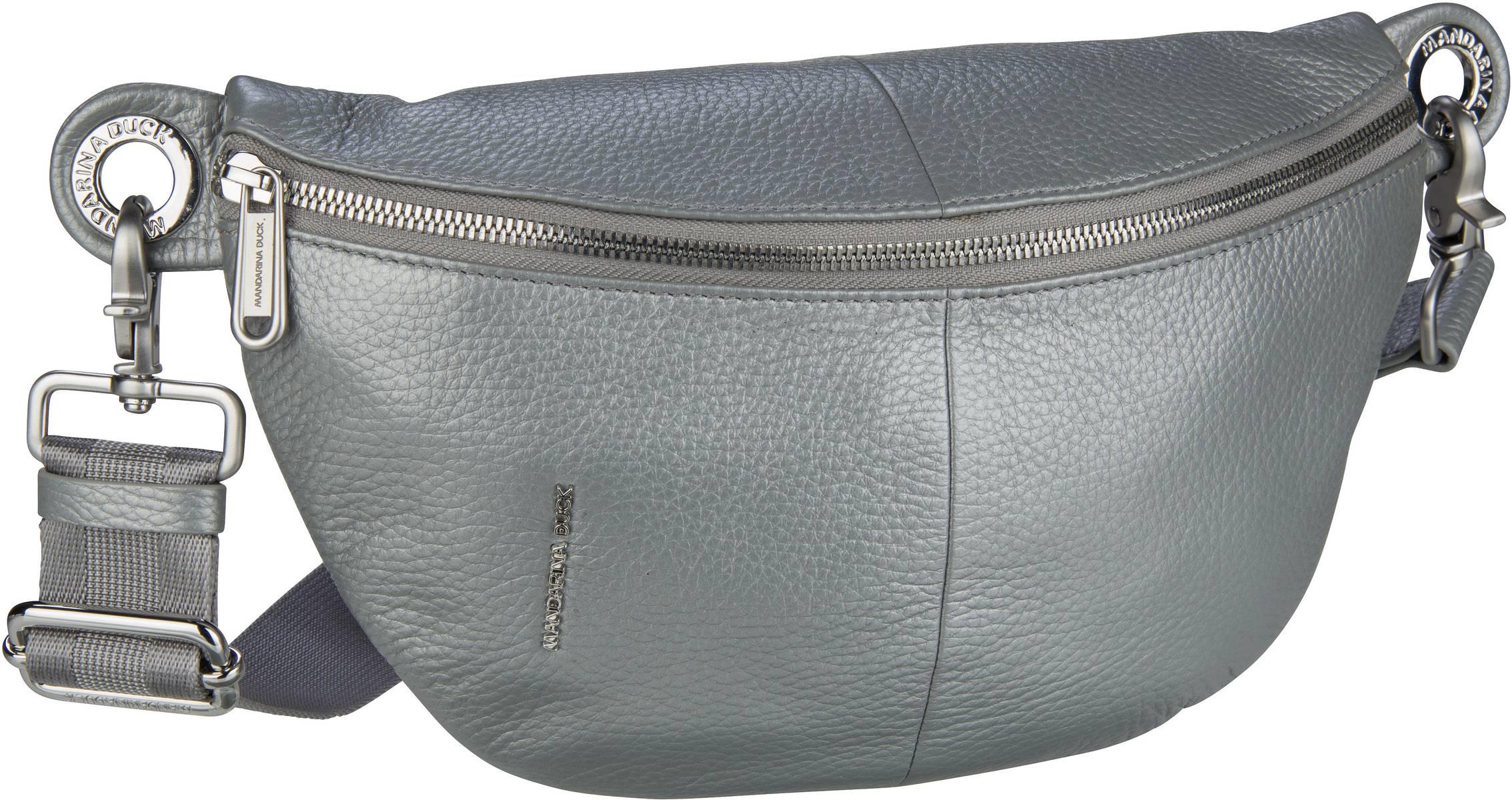 Kleinwaren - Mandarina Duck Gürteltasche Mellow Leather Lux Bum Bag ZLT73 Silver  - Onlineshop Taschenkaufhaus