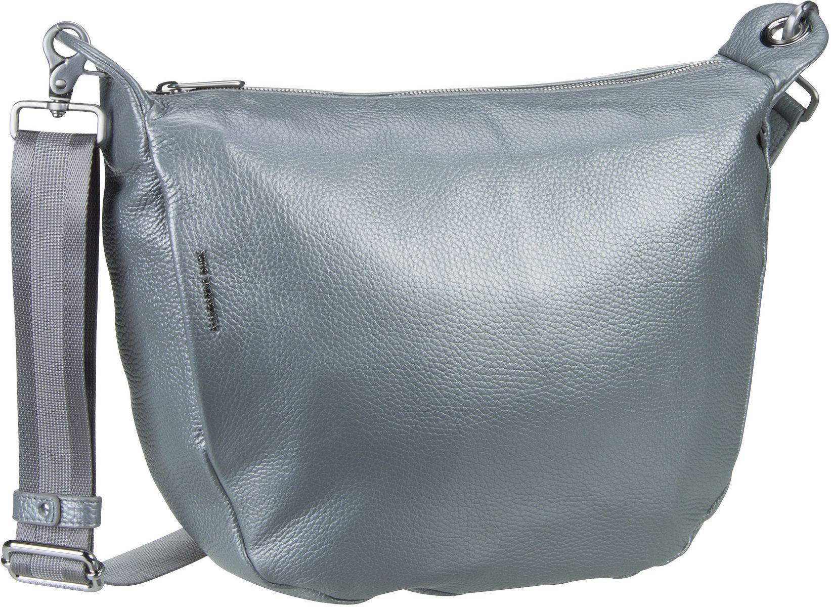 Umhängetasche Mellow Leather Lux Crossover ZLT59 Silver
