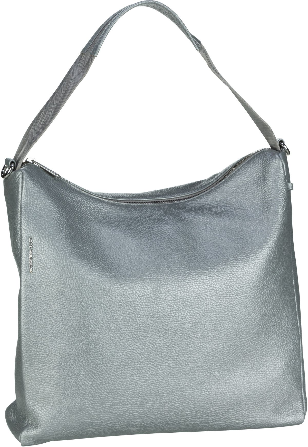 Handtasche Mellow Leather Lux Hobo ZLT95 Silver