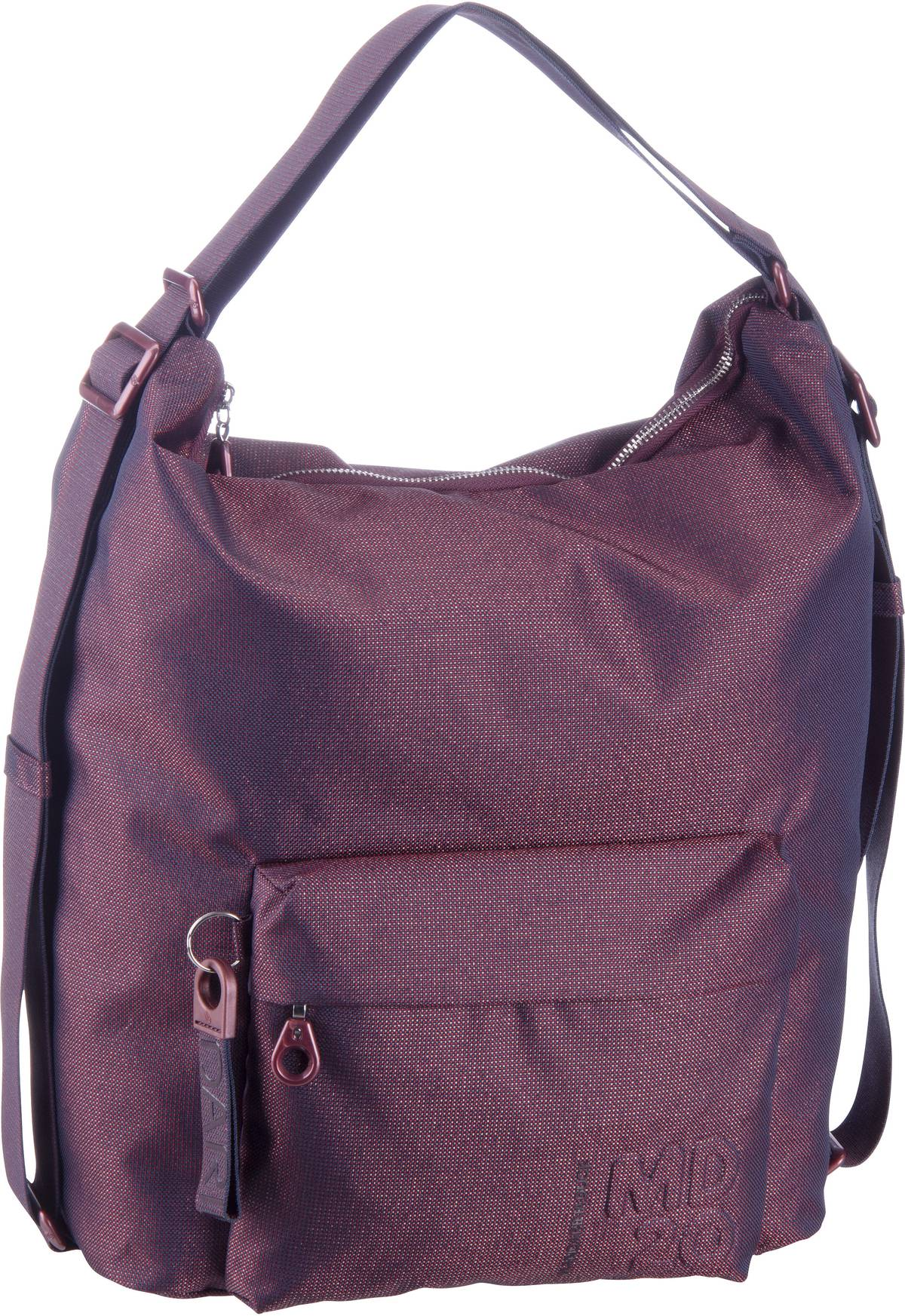 Beuteltasche MD20 Lux Hobo Backpack QNT09 Blackberry Syrup