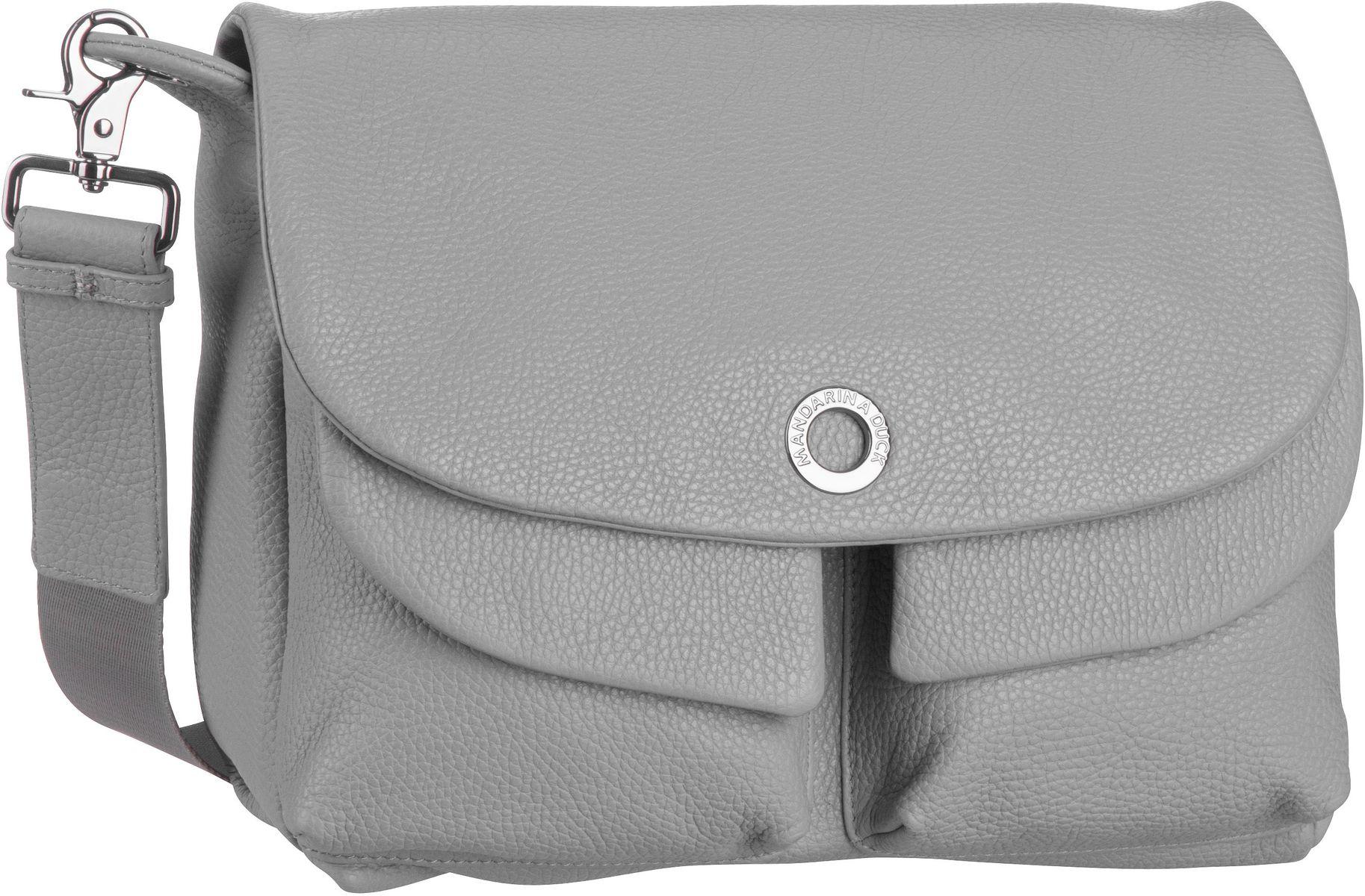 Umhängetasche Mellow Leather Shoulder Bag FZT23 Aluminium