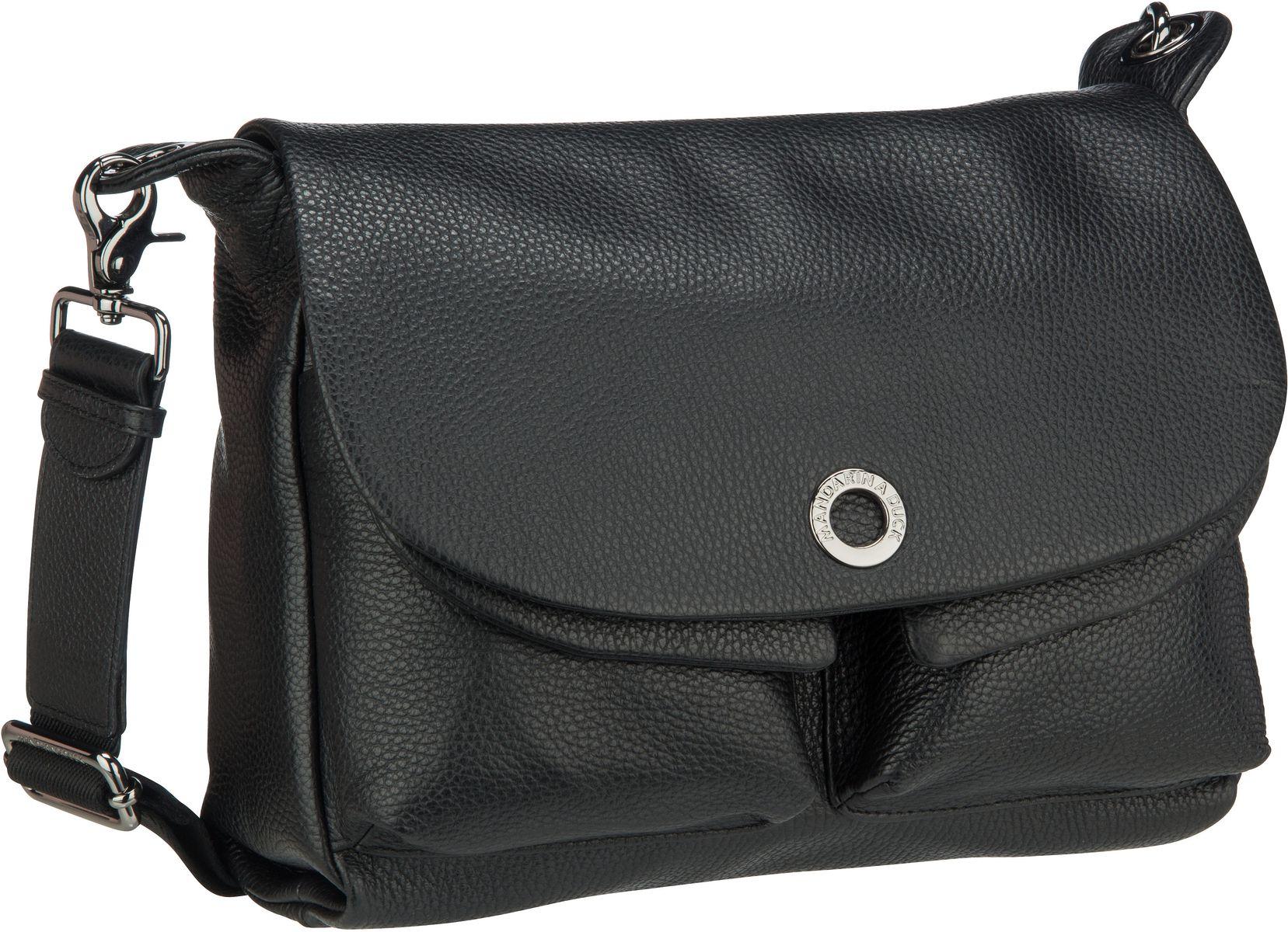 Umhängetasche Mellow Leather Shoulder Bag FZT23 Nero