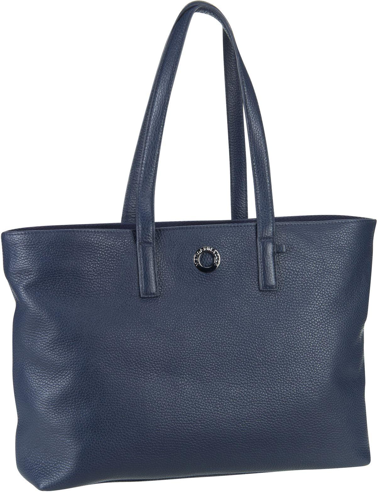 Handtasche Mellow Leather Shopping Bag FZT24 Dress Blue