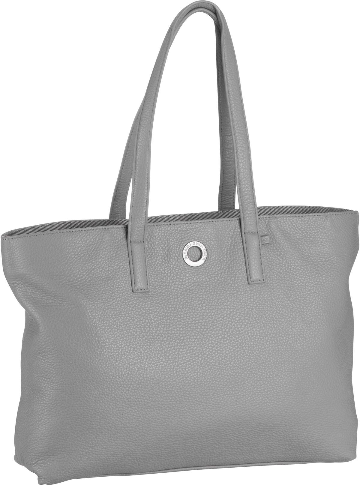 Handtasche Mellow Leather Shopping Bag FZT24 Aluminium