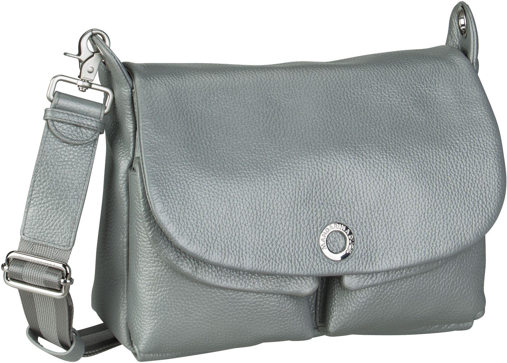 Umhängetasche Mellow Leather Lux Shoulder Bag ZLT23 Silver
