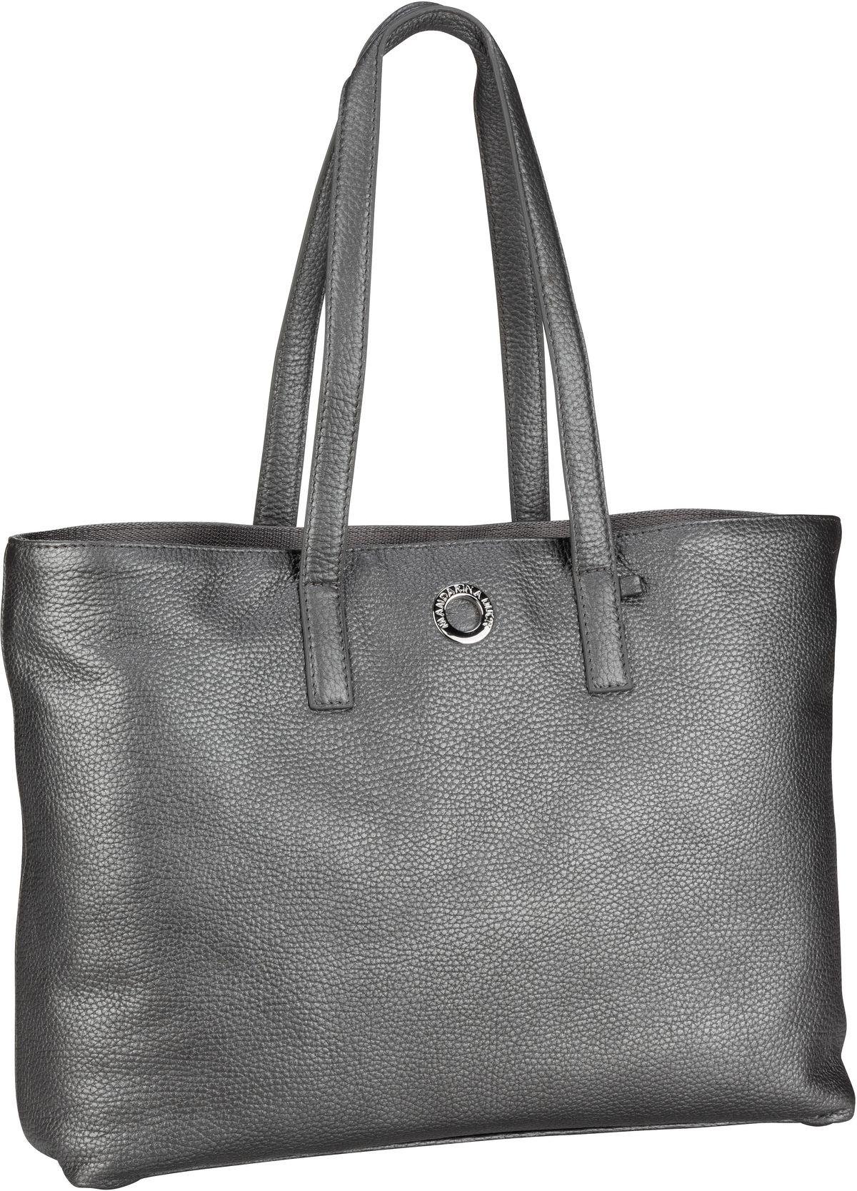 Shopper Mellow Leather Lux Tote Bag ZLT24 Lead