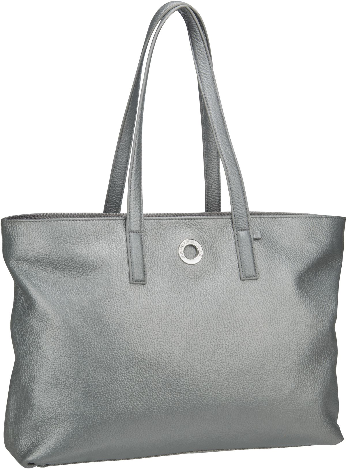 Shopper Mellow Leather Lux Tote Bag ZLT24 Silver