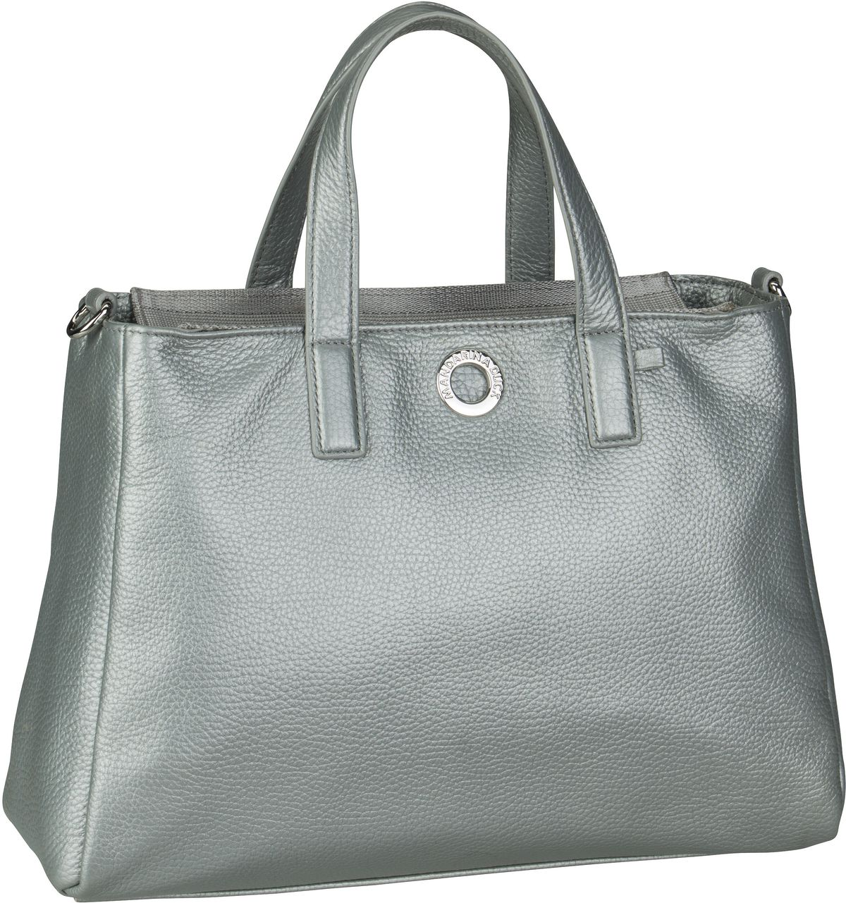 Handtasche Mellow Leather Lux Tote Bag ZLT26 Silver