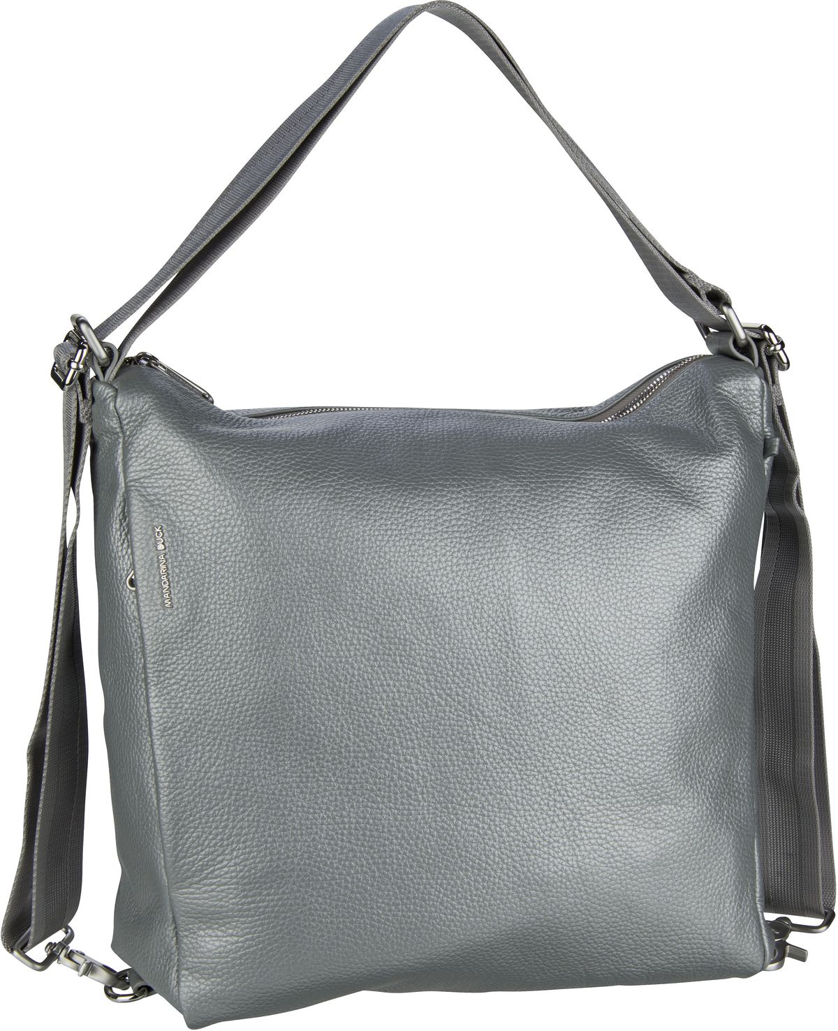 Handtasche Mellow Leather Lux Hobo ZLT72 Silver
