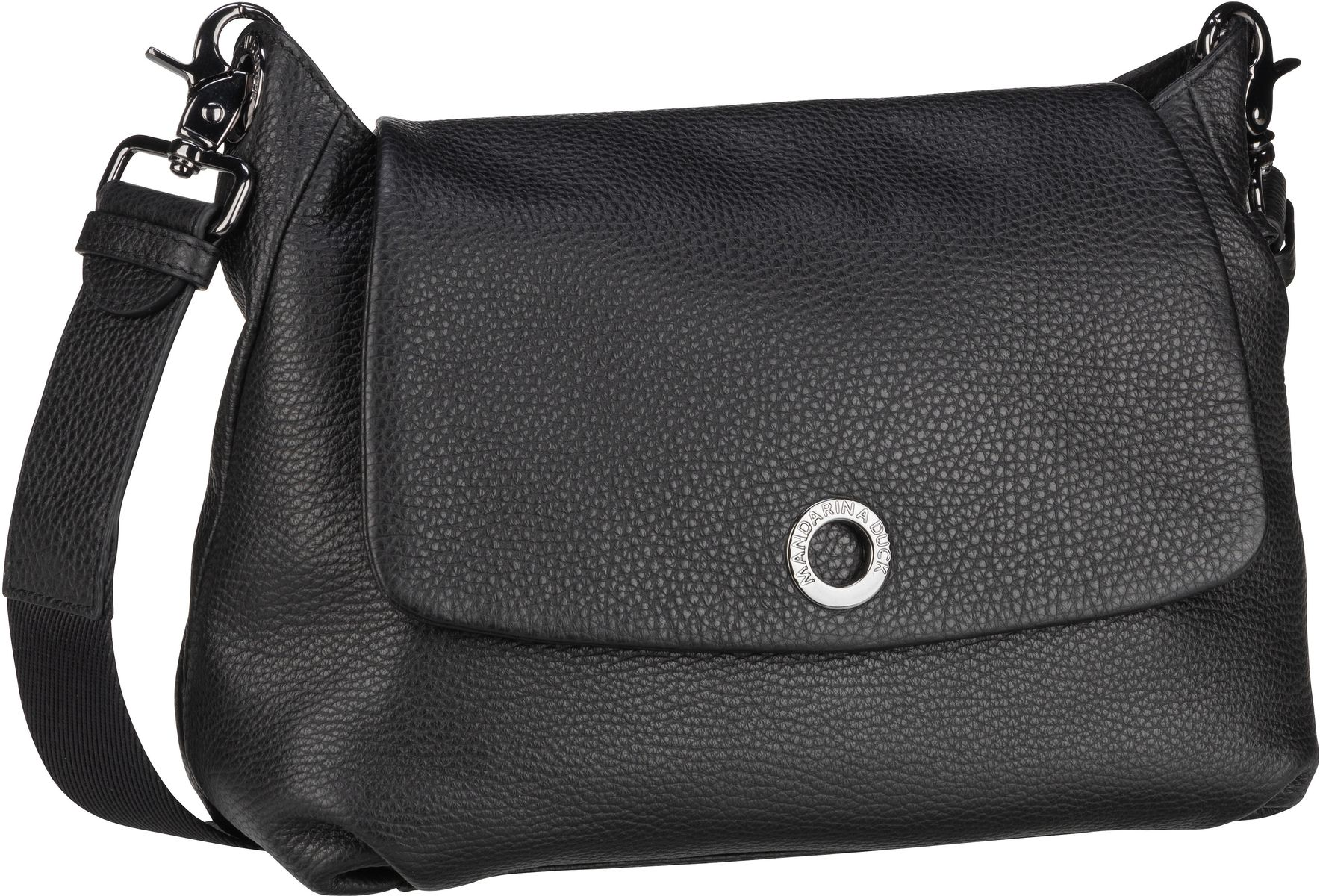 Umhängetasche Mellow Leather Small Shoulder Bag FZT31 Nero
